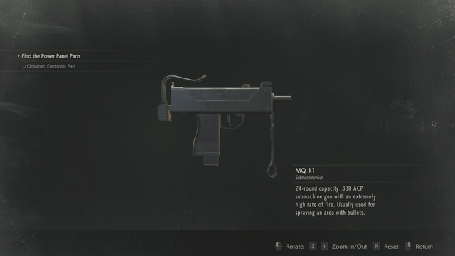 Submachine Gun Resident Evil 2 Weapons