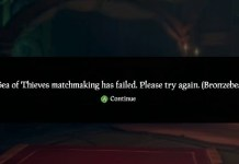 sea of thieves bronzebeard error