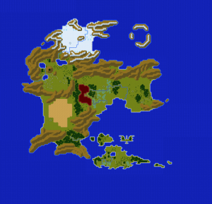 SNES - Actraiser - World Map