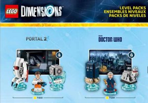 Lego Dimensions add Dr Who, Portal 2, The Simpsons Level Pack