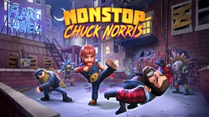 Chuck Norris stars in his own mobile game, Nonstop Chuck Norris.