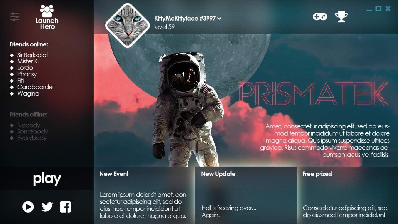 Game Launcher Layout 5