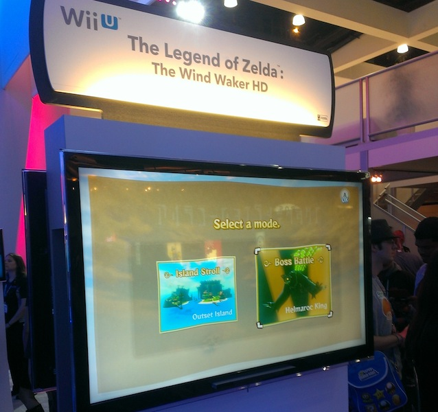 The Legend of Zelda: The Wind Waker HD demo at E3 2013, photo by Cody