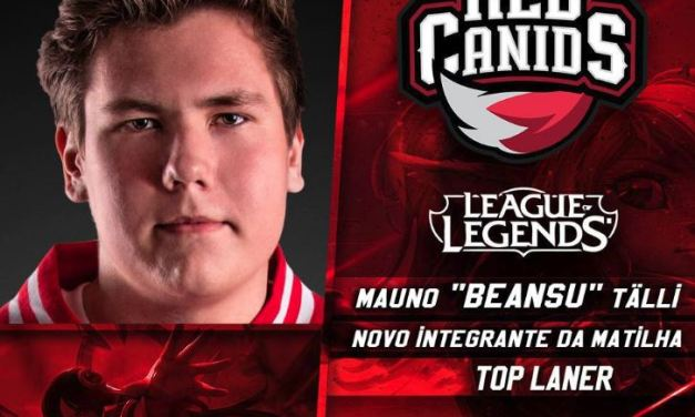 "RED Canids anuncia Solo Top europeu  ""beansu""!!"