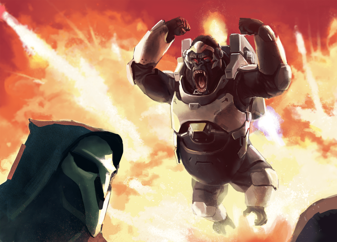 Wallpapper overwatch - reaper e winston