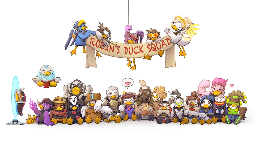 wallpapper overwatch time duck squad