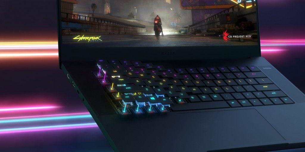 razer blade teclado óptico