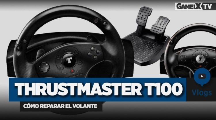 cómo reparar el volante thrustmaster t100