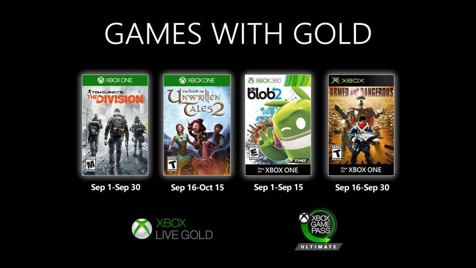 Games with Gold de septiembre de 2020
