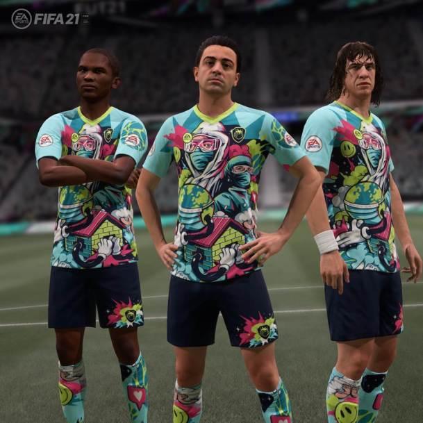 un kit de FIFA 21 Ultimate Team
