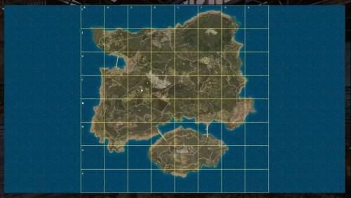 Карта мира в Playerunknown's Battlegrounds