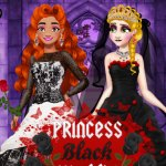 Princess Black Wedding Dress