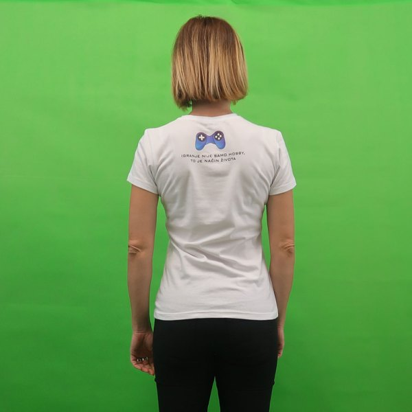 GameNOEL bijela ženska majica