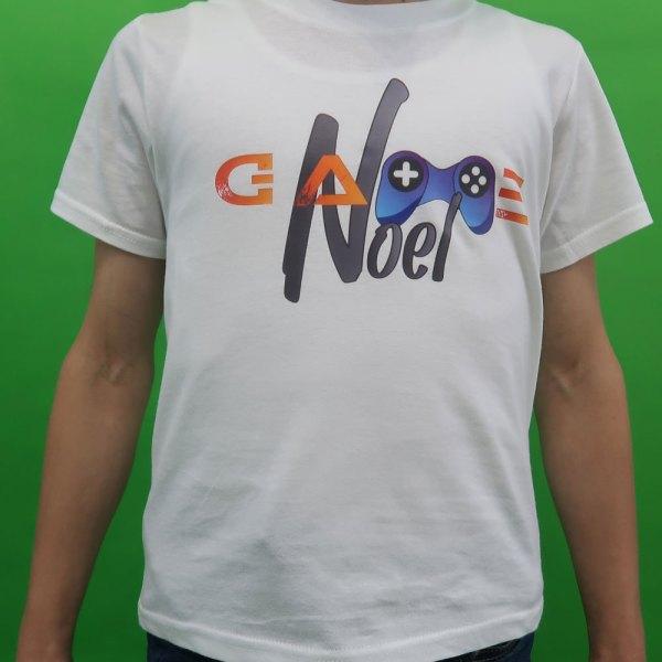 GameNOEL majica bijela logo glavni