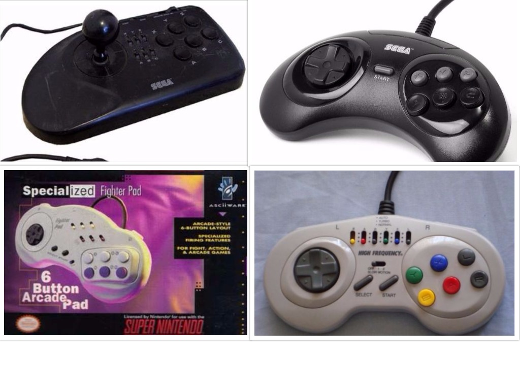 """Small sample of later """"fighting controllers"""""""