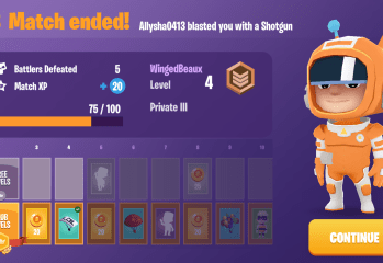 Battlelands royale end screen