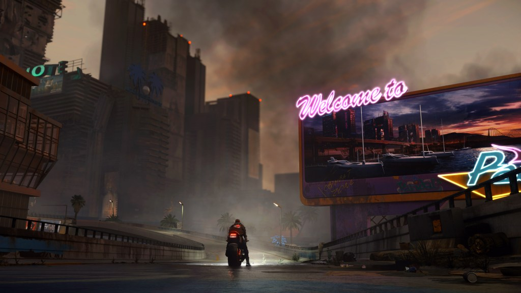 Cyberpunk 2077 The Pacifica district of Night City