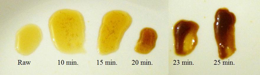 Honey samples from Bochet