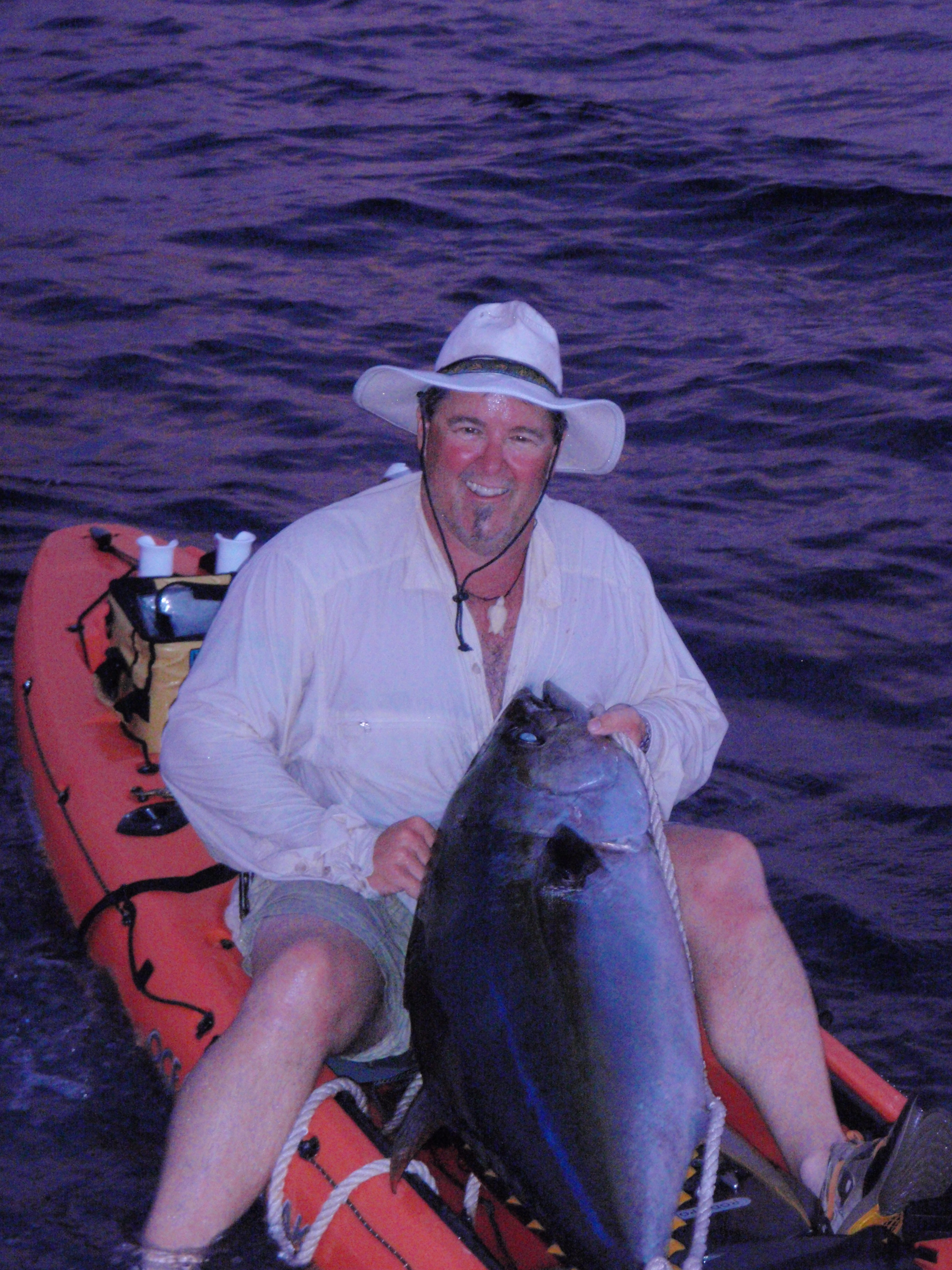 Jim Sammons and 120 pound yellowfin tuna