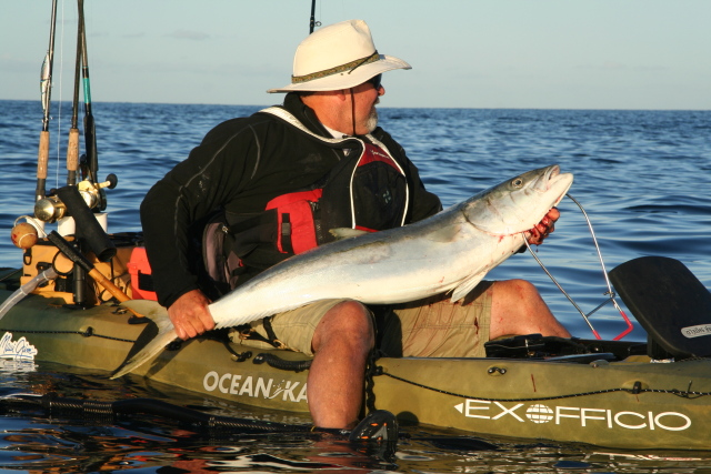 Jim Sammons with Cedros Yellowtail (photo by Will Richardson)