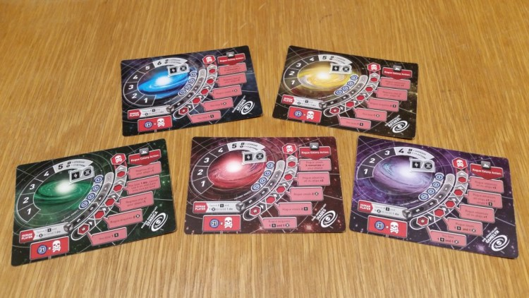 The Rogue galaxies, each with a different difficulty setting. It makes solo play a blast