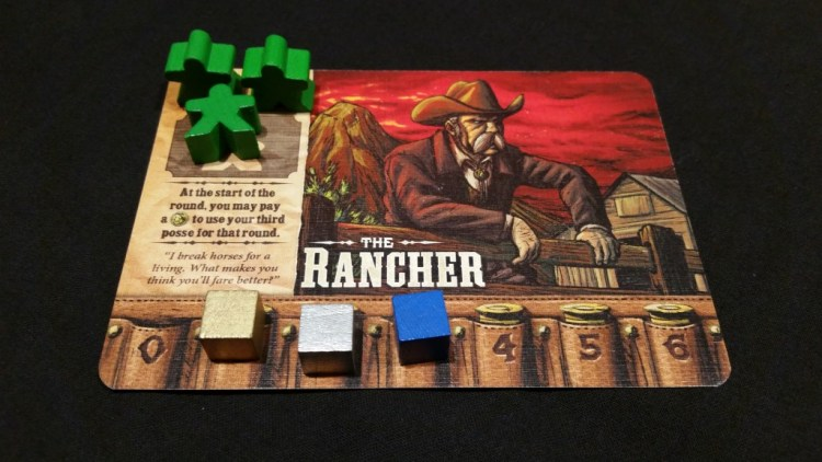 An example of a Boss. The Rancher can always pay to have his 3rd worker, which is incredibly useful