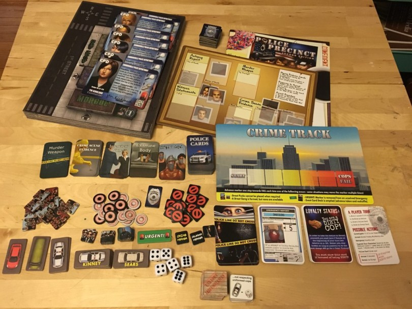 There are a lot of tokens and other components, but the board is definitely the biggest thing in the box.