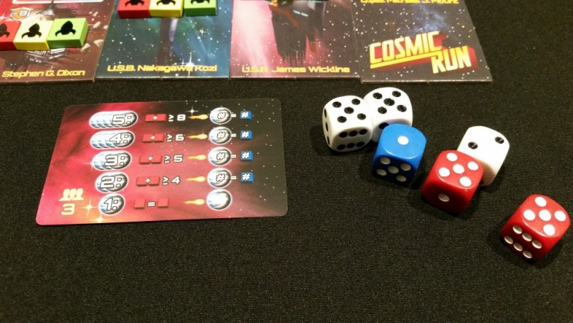 The red dice exceed the 5 planet value on the meteor card, so it looks like plant 1 (the blue die face) is getting hit.