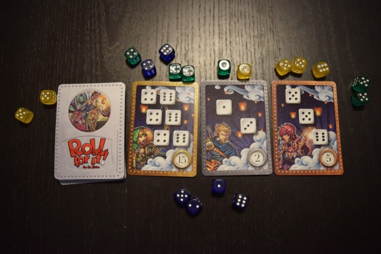 Pictured here, my super-awesome Gencon exclusive set. The regular sets are a little less pretty but no less fun! And you can always snag a deluxe set yourself!