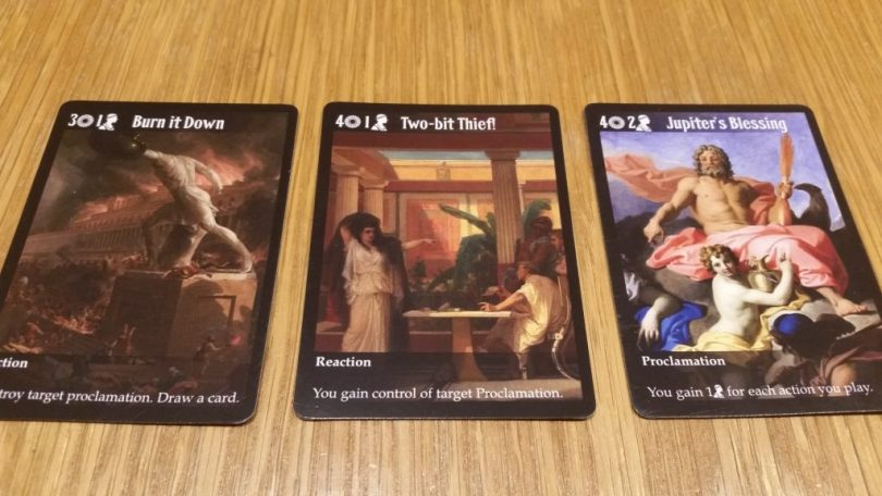 These cards are powerful, but will cost you precious Influence as well as Denarii