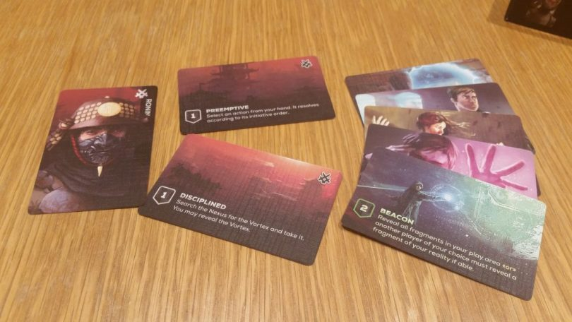 Ronin, the in-box mini-expansion character, breaks the rules of time and space slightly differently than the other characters.