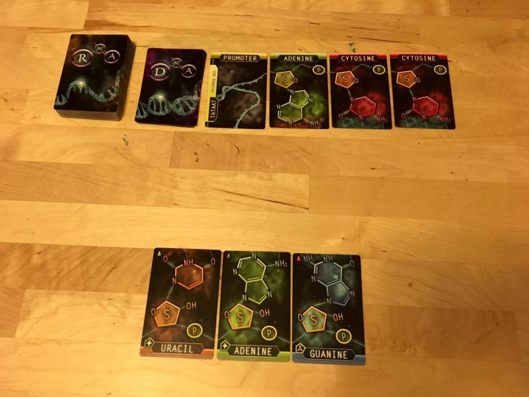 "Match your card color with the ""haze"" at the bottom of the DNA cards."