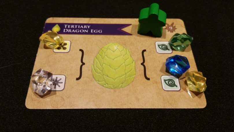 Having claimed this egg, Green will be able to hatch it at the end of the round!