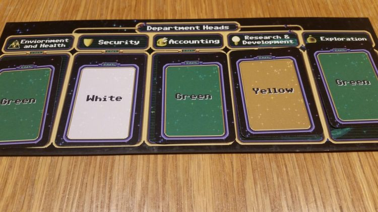 Each department head gets a vote. You can stack the deck by influencing them over and over, but someone could still win with only one card in each pile, technically speaking.