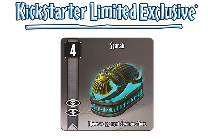 Backers will get this card, one of the only ways to aggro an opponent. Most of the time, you can't interact with other players at all...aside from taking stuff they might want, obviously.