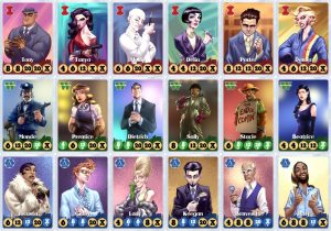 Button Men Cards