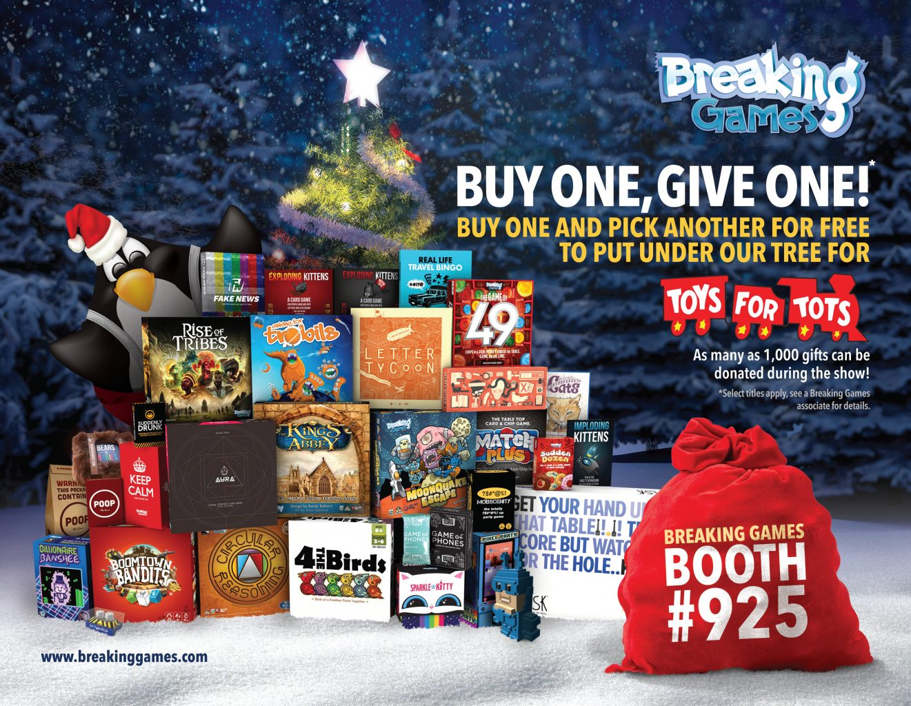 Breaking Games Donating Toys for Tots at PAX