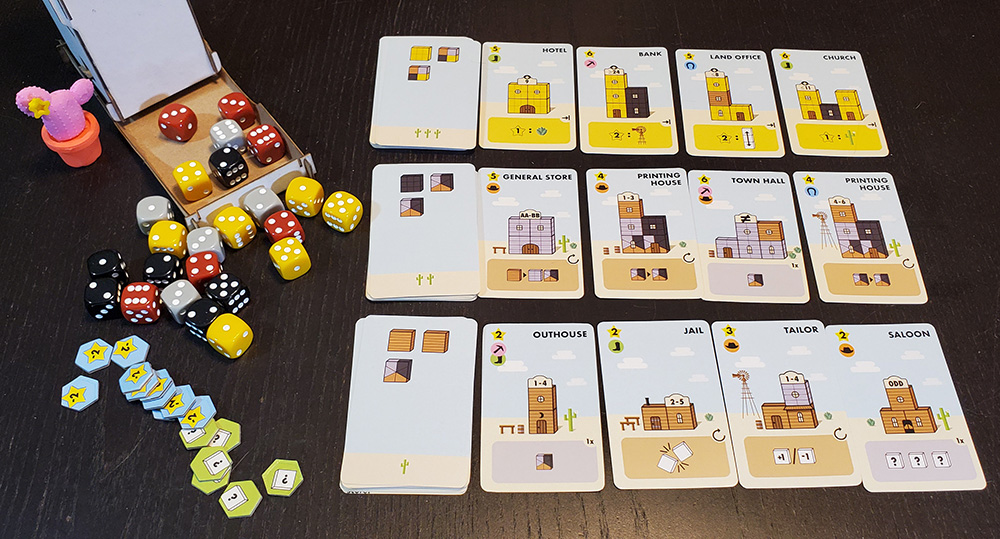 Tumble Town components