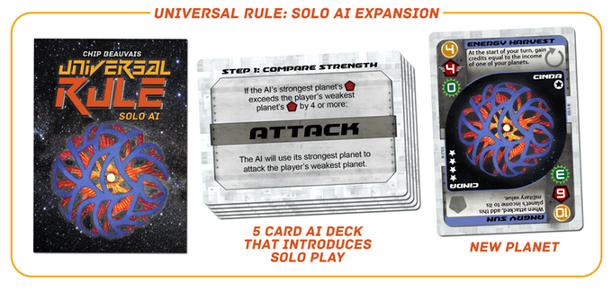universal rule solo cards