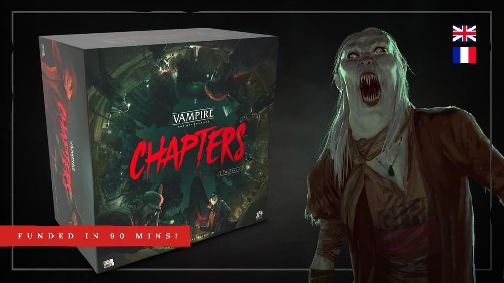Vampire: The Masquerade – CHAPTERS Kickstarter banner
