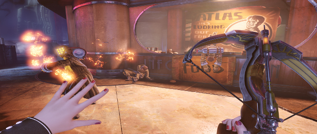 La ballesta forma parte del nuevo arsenal en Burial at Sea, y es por mucho el arma más práctica del juego