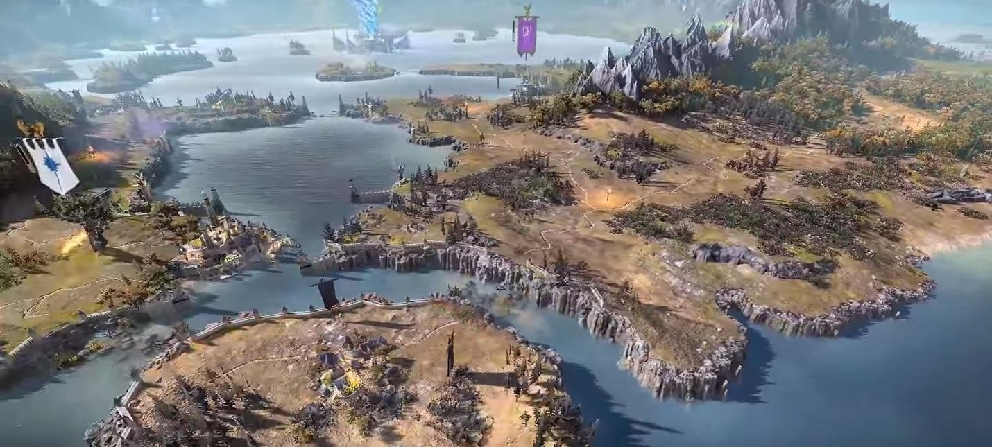Overview Video Of The World Map Total War Warhammer Iigame Playing Info