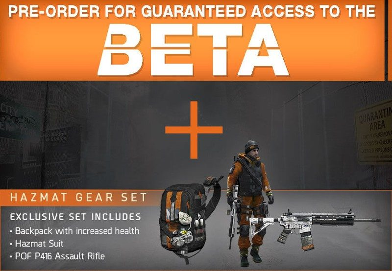 Tom Clancys The Division Pre Order Bonuses Game Preorders