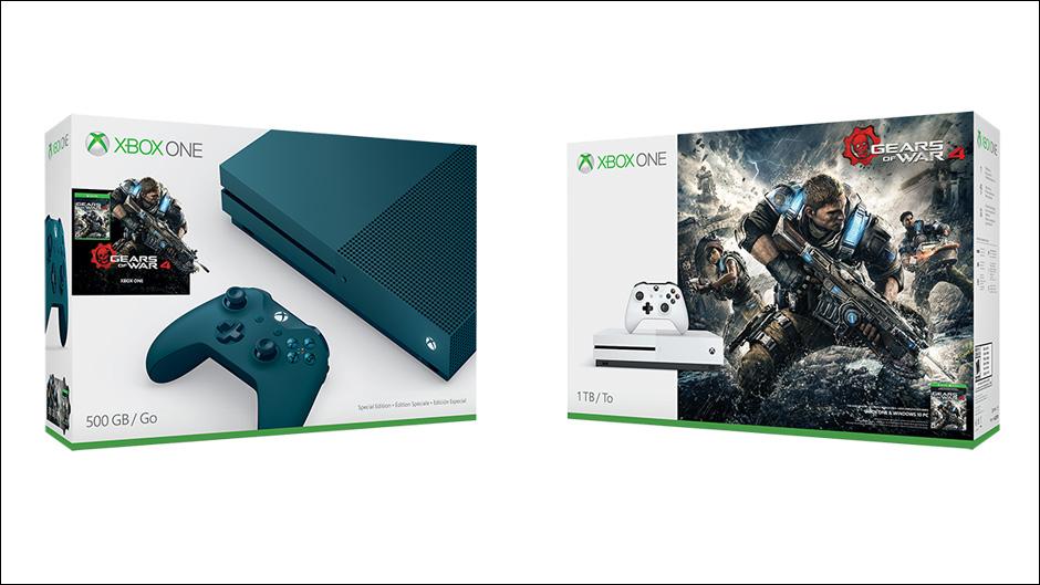 Microsoft Unveils New Gears of War 4 Xbox One S Bundles