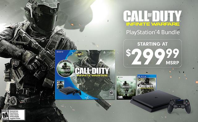 PlayStation Announces Slim PS4 Call of Duty: Infinite Warfare & Modern Warfare Bundle