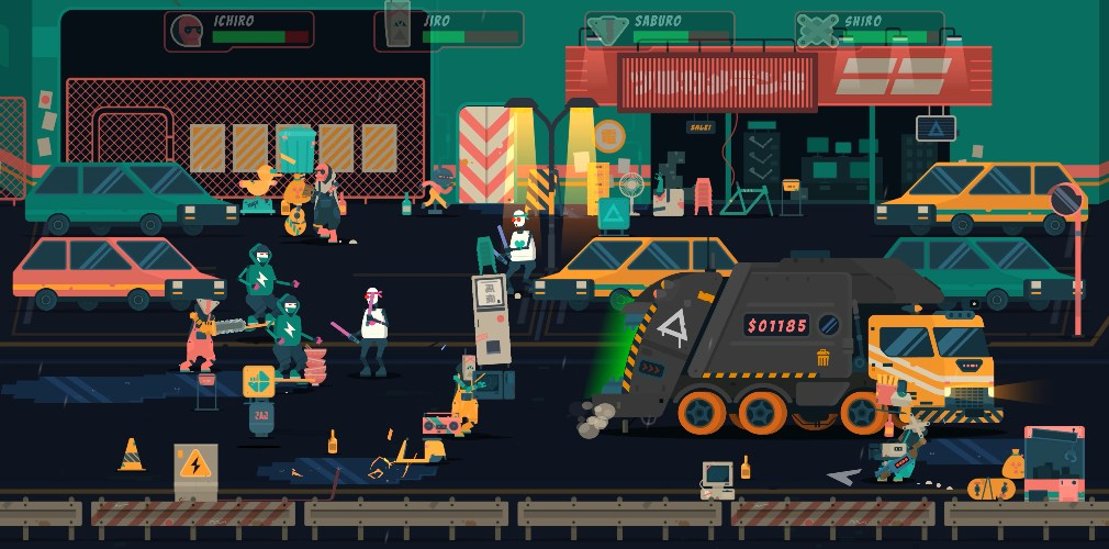 Scrappers, out today for Apple Arcade, is a stylish, action-packed game about being a bin man