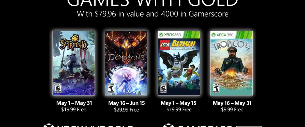 New Games with Gold for May 2021