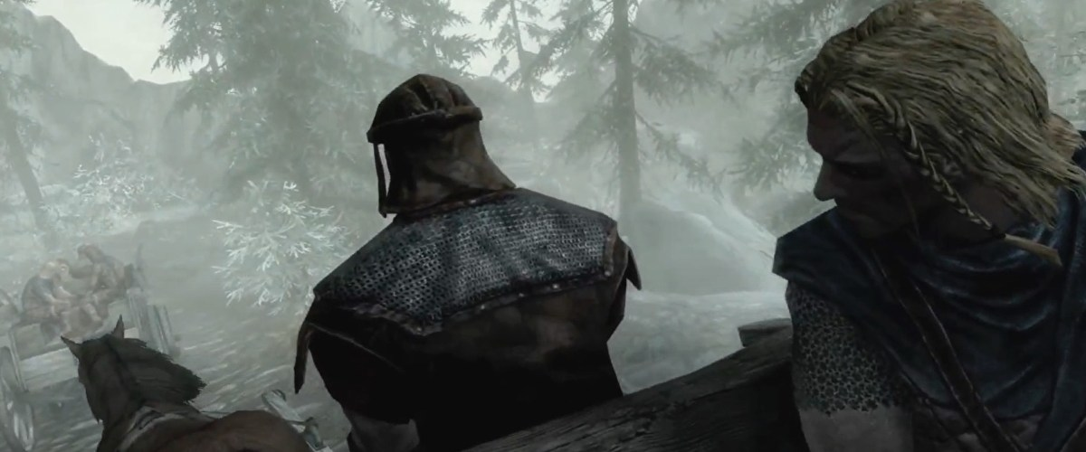 During development, Skyrim's iconic cart ride kept getting catapulted into space by a bee • Eurogamer.net