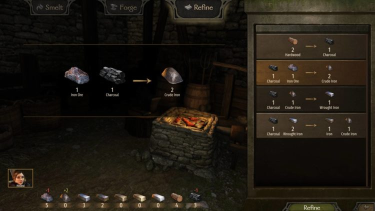 Mount & Blade Ii Bannerlord Mount And Blade Ii Bannerlord Smithing Skill Smithy Crafting Refine Stamina Recipe