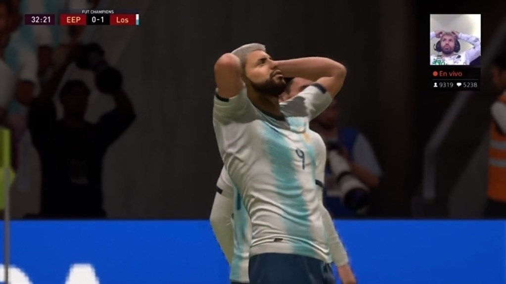 FIFA 20 nailed Sergio Agüero's shock at missing a sitter • Eurogamer.net